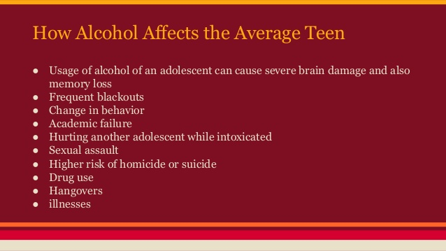 Teens Addiction Alcohol Eschool - In Of Signs